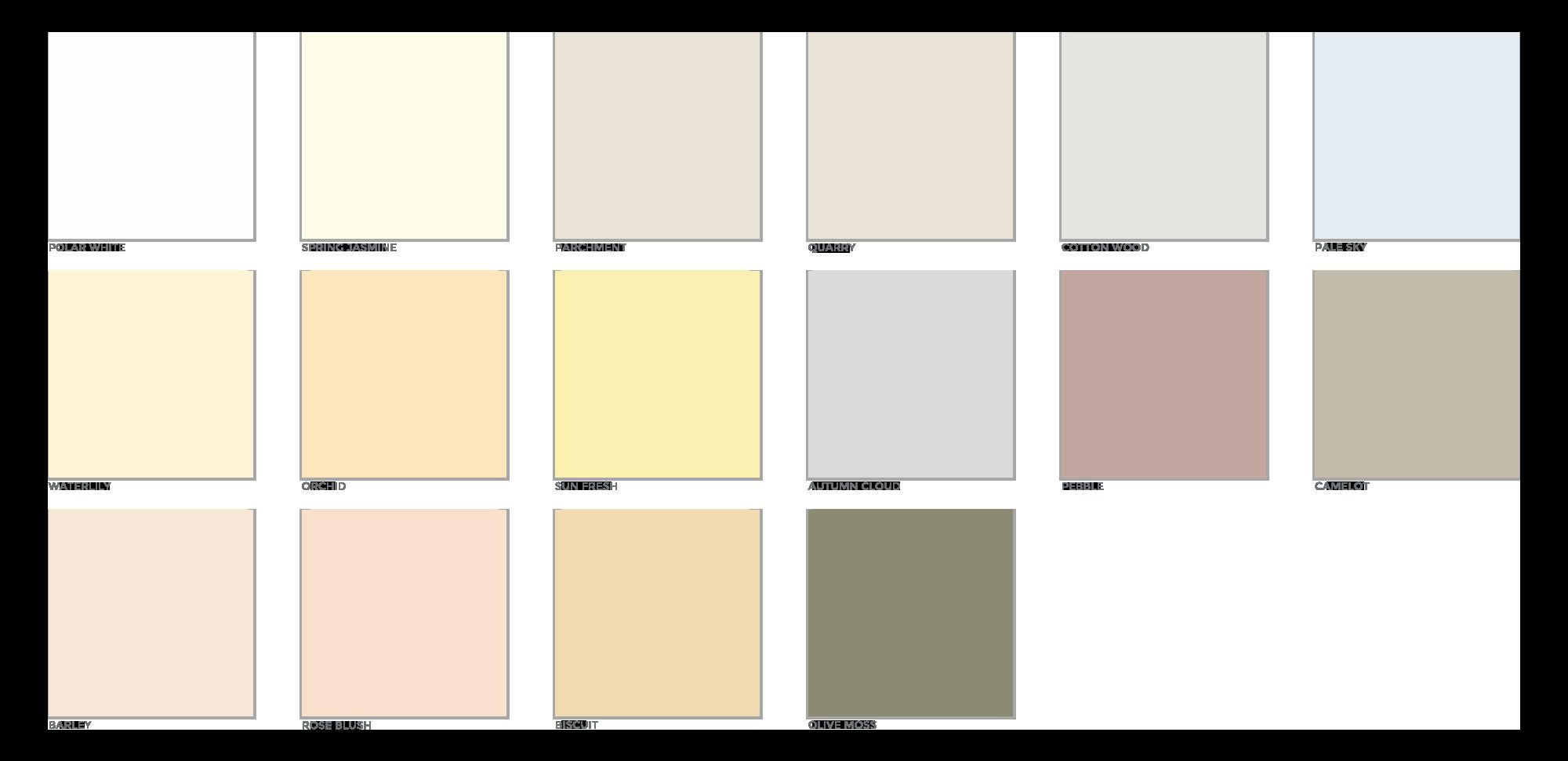 Wall Coating Colours | Weber Render Colours | K Rend Render