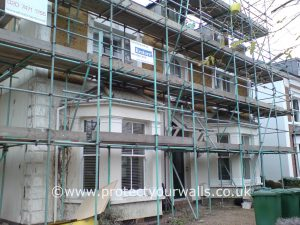London Exterior Wall Coatings and Rendering job - before photo