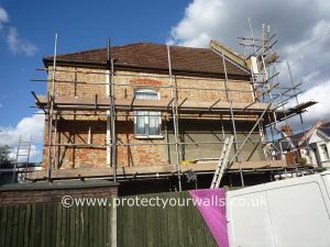 West Sussex Exterior Wall Coatings and Rendering job - before photo