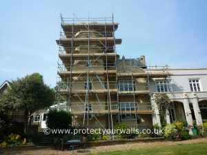 Hertfordshire Exterior Wall Coatings and Rendering job - before photo