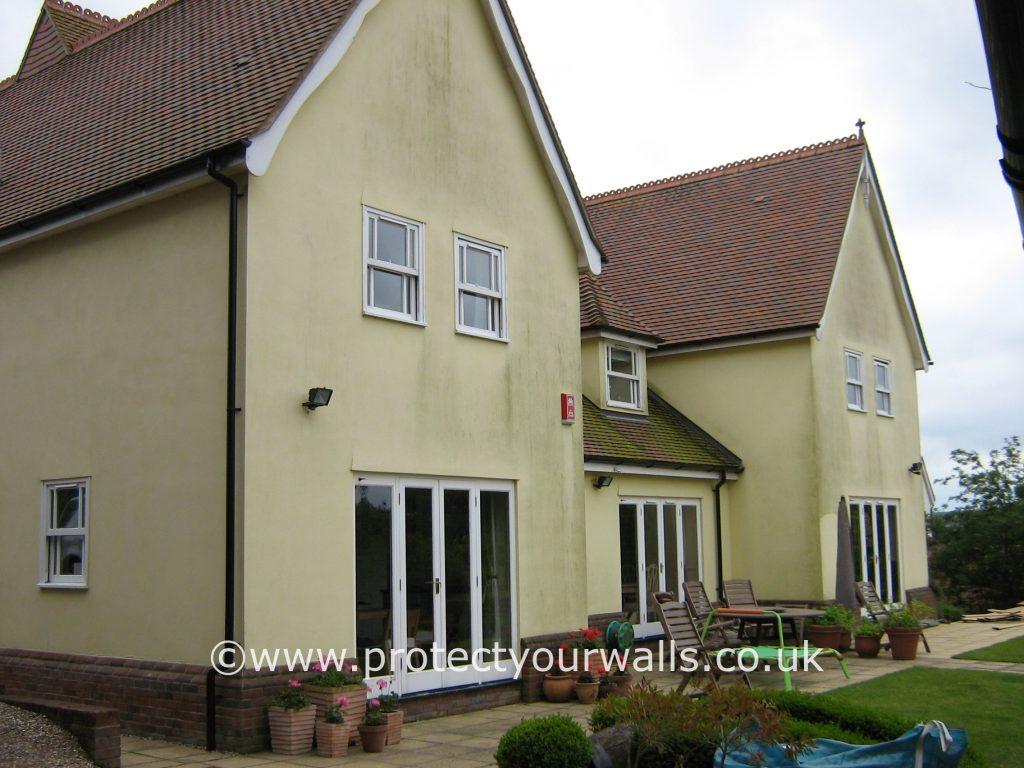 House in need of rendering, Essex.